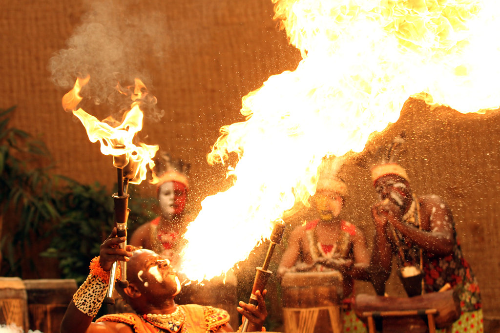 special effects at the set of the music clip