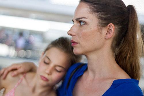"Stella Denis and Lila Bagdadi in the scene in short film ""wer ist Zoe"""